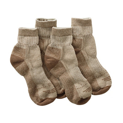 Women's Cresta Hiking Socks, Wool-Blend Midweight Quarter Crew Two-Pack