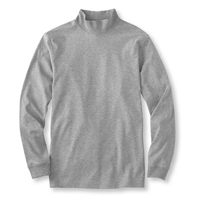 Pima Cotton Mock Neck, Traditional Fit