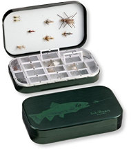L.L.Bean/Wheatley Trout Print Fly Box