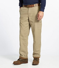 Pathfinder Pants, Fleece-Lined Canvas Natural Fit