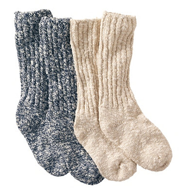 Women's Cotton Ragg Camp Socks, Two-Pack
