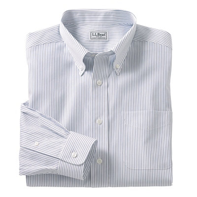 Wrinkle-Resistant Pinpoint Oxford Cloth Shirt, Traditional Fit Stripe