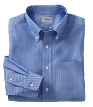 Wrinkle-Resistant Pinpoint Oxford Cloth Shirt, Stripe