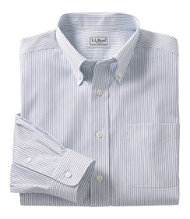 Wrinkle-Resistant Pinpoint Oxford Cloth Shirt, Slightly Fitted Stripe