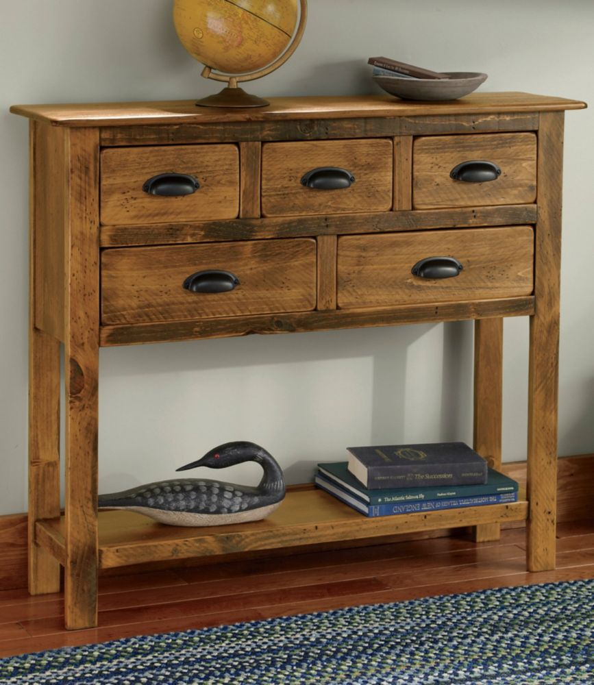 Rustic Console Table With Drawers Furniture Table Styles