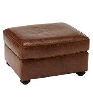 Bean's Leather Lodge Ottoman