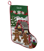 Holiday Needlepoint Stocking, Cotton