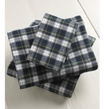 Heritage Chamois Flannel Pillowcases, Plaid Set of 2