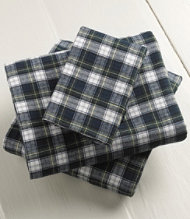 Heritage Chamois Flannel Pillowcases Plaid Set of 2