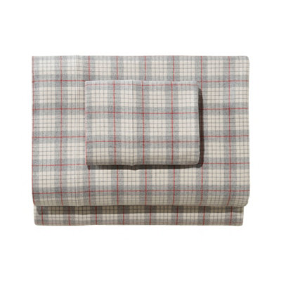 Heritage Chamois Flannel Pillowcases, Plaid Set of Two