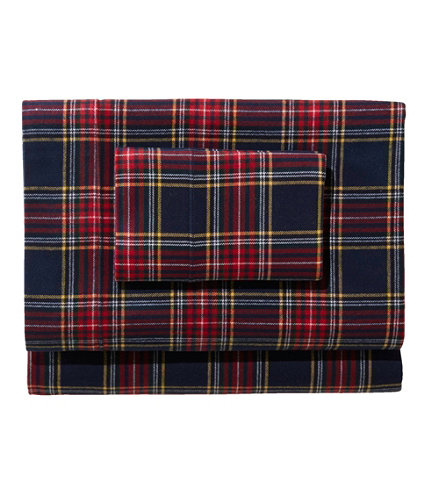 Heritage Chamois Flannel Sheet Set Plaid Free Shipping