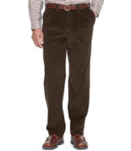 Wrinkle-Resistant Corduroy Pants, Classic Fit Pleated