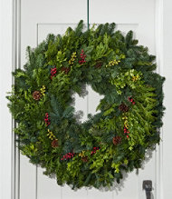 Woodland Berry Wreath, 30""