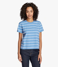 Saturday T-Shirt, Short-Sleeve Crewneck Stripe
