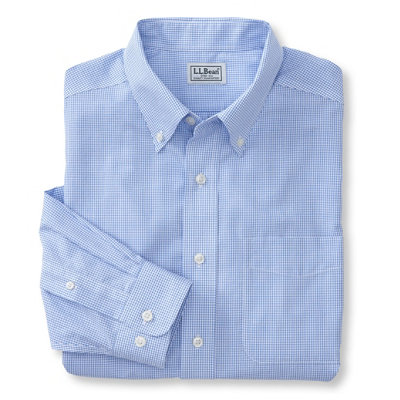 Wrinkle-Resistant Vacationland Sport Shirt, Traditional Fit Mini-Check