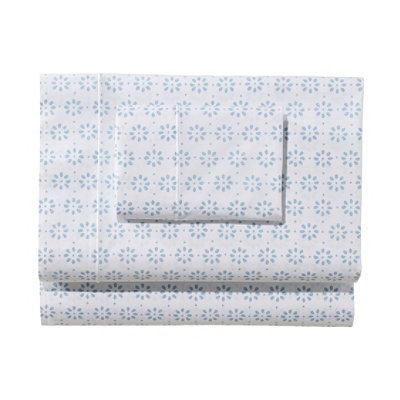 Sunwashed Percale Pillowcases, Print Set of Two