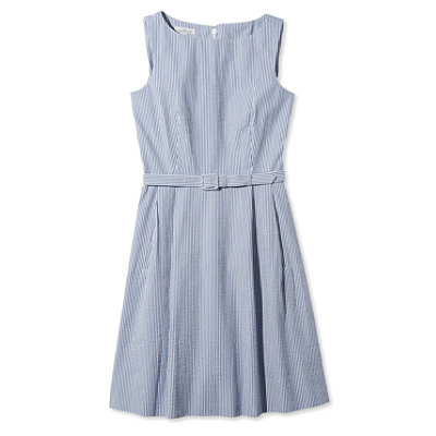 Signature Seersucker Dress, Stripe