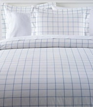280-Thread-Count Pima Cotton Percale Comforter Cover, Windowpane