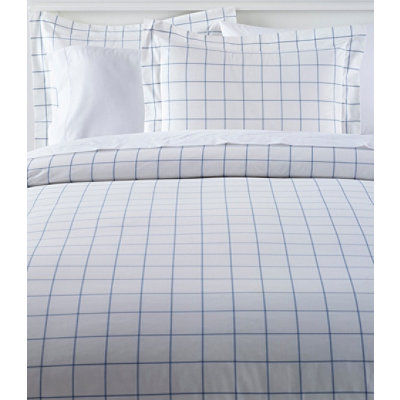 280-Thread-Count Percale Sham, Windowpane