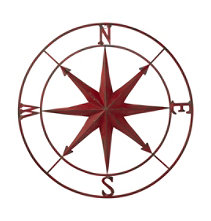 Metal Compass Rose