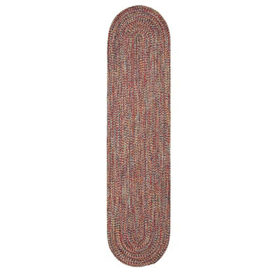 All-Weather Braided Oval Runner, Concentric Pattern