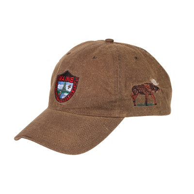 Maine Inland Fisheries and Wildlife Waxcloth Hat, Moose