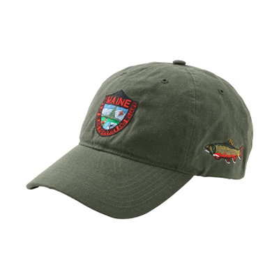 Maine Inland Fisheries and Wildlife Waxcloth Hat, Brook Trout