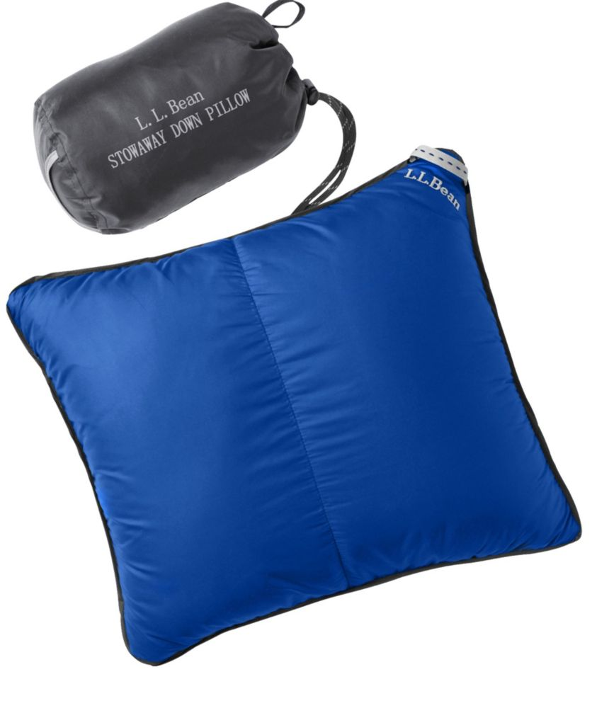 photo: L.L.Bean Stowaway Down Pillow with DownTek pillow