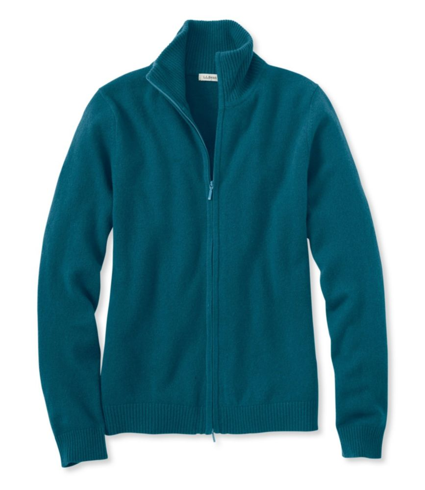 photo: L.L.Bean Women's Classic Cashmere, Full-Zip Cardigan