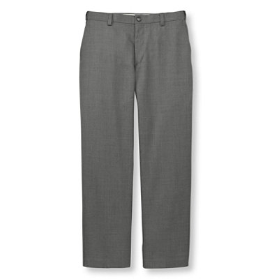 Year-Round Wool Trousers, Hidden Comfort Plain Front