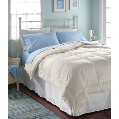Box-Stitch White Down Comforter, Warm