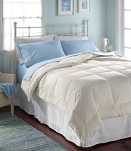 Box-Stitch White Down Comforter, Warmer