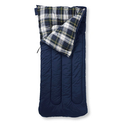 Camp Sleeping Bag, Flannel-Lined 40�