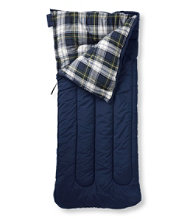 Camp Sleeping Bag, Flannel-Lined 20�