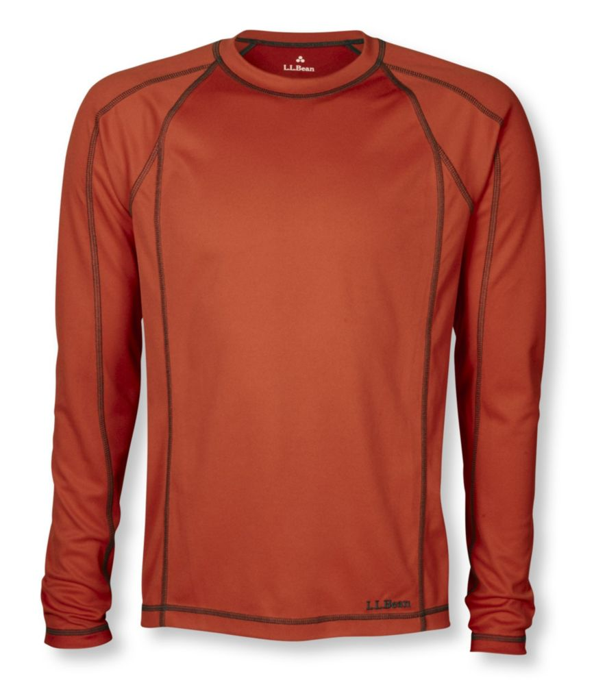 photo: L.L.Bean Men's Power Dry Stretch Base Layer, Lightweight Long-Sleeve Crew