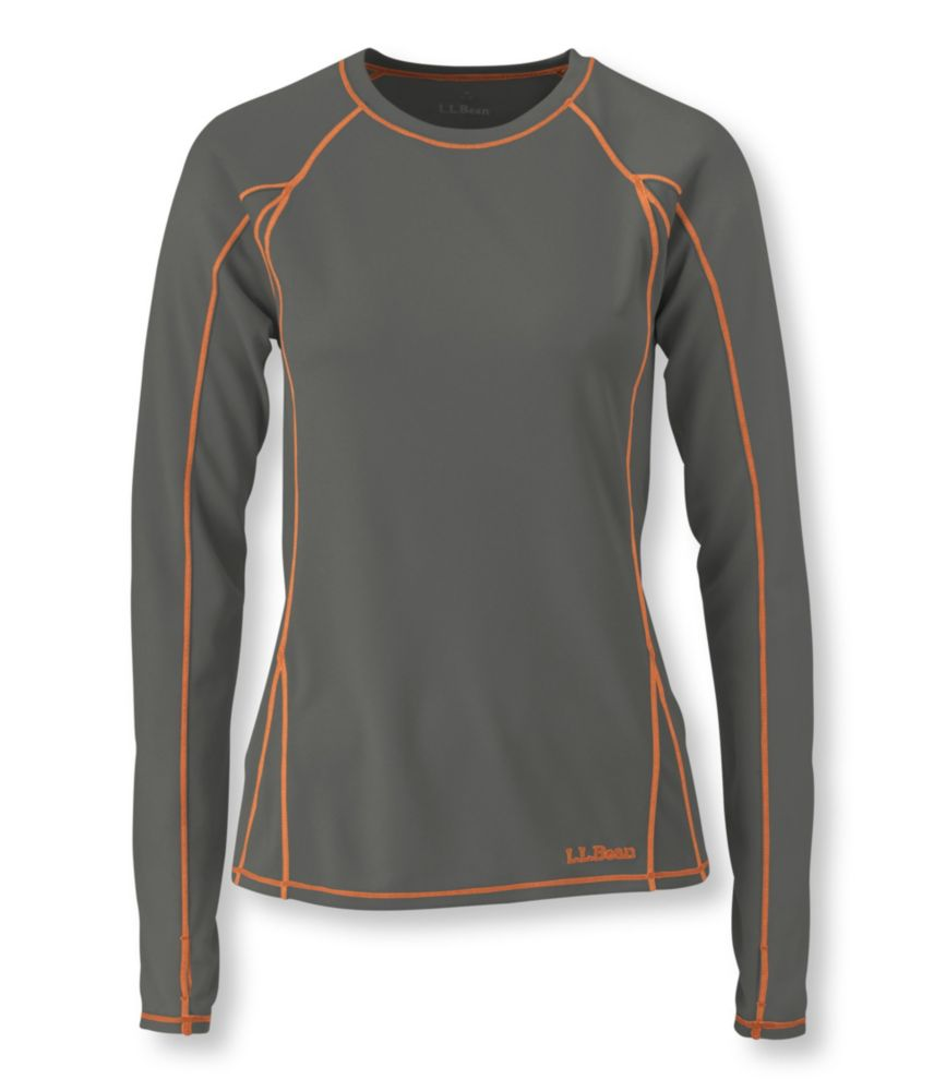 L.L.Bean Power Dry Stretch Base Layer, Lightweight Long-Sleeve Crew