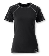 Polartec Power Dry Stretch Base Layer, Midweight Short-Sleeve Crew