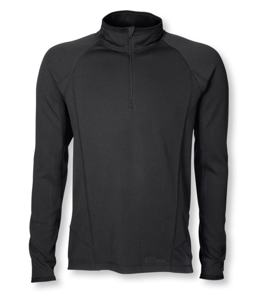 photo: L.L.Bean Men's Power Dry Stretch Base Layer, Midweight Quarter-Zip