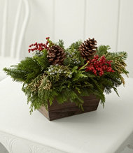 Woodland Canella Berry Centerpiece