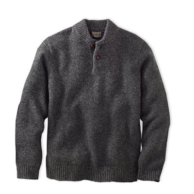Bean's Classic Ragg Wool Sweater, Henley