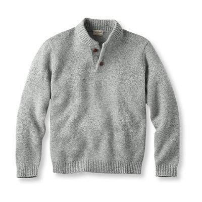 Bean's Classic Ragg Wool Sweater, Henley