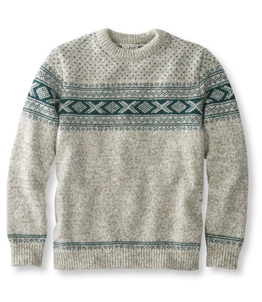 L.L.Bean Norwegian Sweater, Crew Pattern