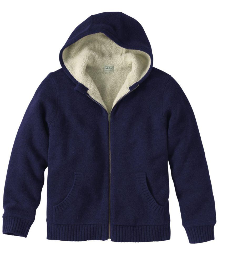 L.L.Bean Sherpa Fleece-Lined Sweater, Hoodie