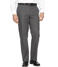 Wrinkle-Resistant Dress Chinos, Classic Fit Plain Front Plaid