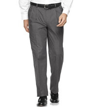 Wrinkle-Resistant Dress Chinos, Natural Fit Pleated Plaid