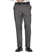 Wrinkle-Resistant Dress Chinos, Natural Fit Plain Front Plaid