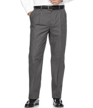 Wrinkle-Resistant Dress Chinos, Classic Fit Pleated Plaid
