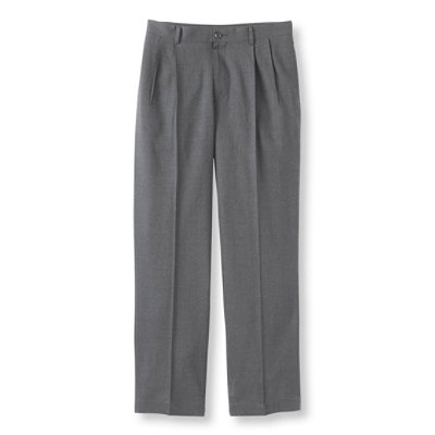 Men's Washable Year-Round Wool Pants, Classic Fit Pleated