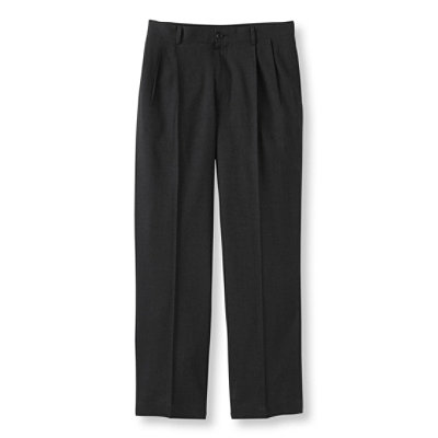 Washable Year-Round Wool Pants, Natural Fit Hidden Comfort Pleated