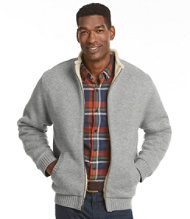 Sherpa Fleece-Lined Sweater, Full-Zip